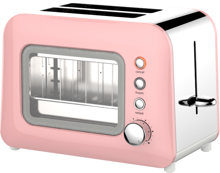 2 Slice Glass Toaster HX-5022