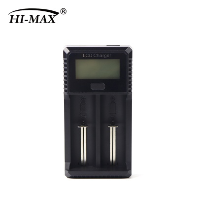 Multi-function 2- Bay lithium battery charger with LCD
