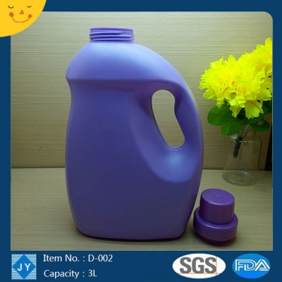 3L HDPE liquid laundry detergent plastic bottle