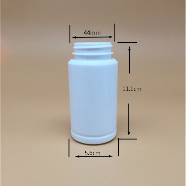 220cc pharmaceutical use bottle HDPE round plastic bottel vitamin/protein/ fish oil