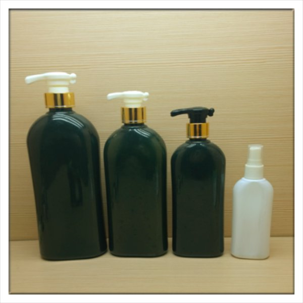 500ml 16oz colorful flat plastic bottles for lotion, shampoo,hair conditioner