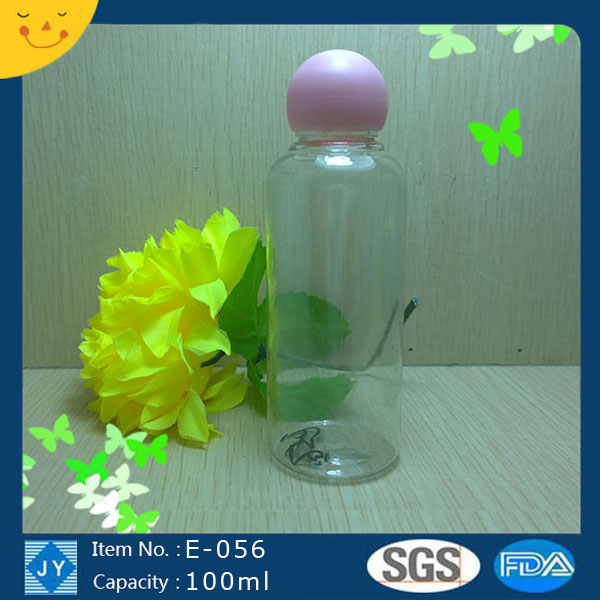 100ml pet plastic boston round bottle