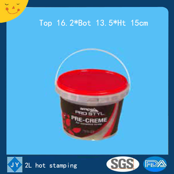 2L hot stamping plastic bucket