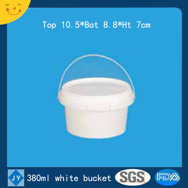 380ml white plastic bucket