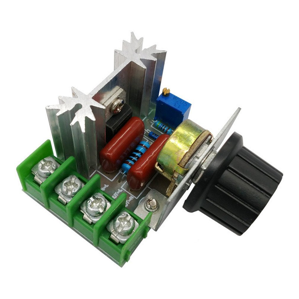 2000W PWM AC Motor Speed Control Module Dimmer Speed Regulator 50-220V Adjustable Voltage Regulator