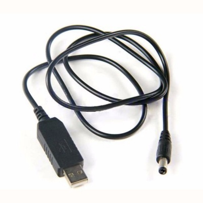 USB to DC Convert Cable 5V to 12V Voltage Step-Up Cable 5.5*2.1mm DC 1M Male