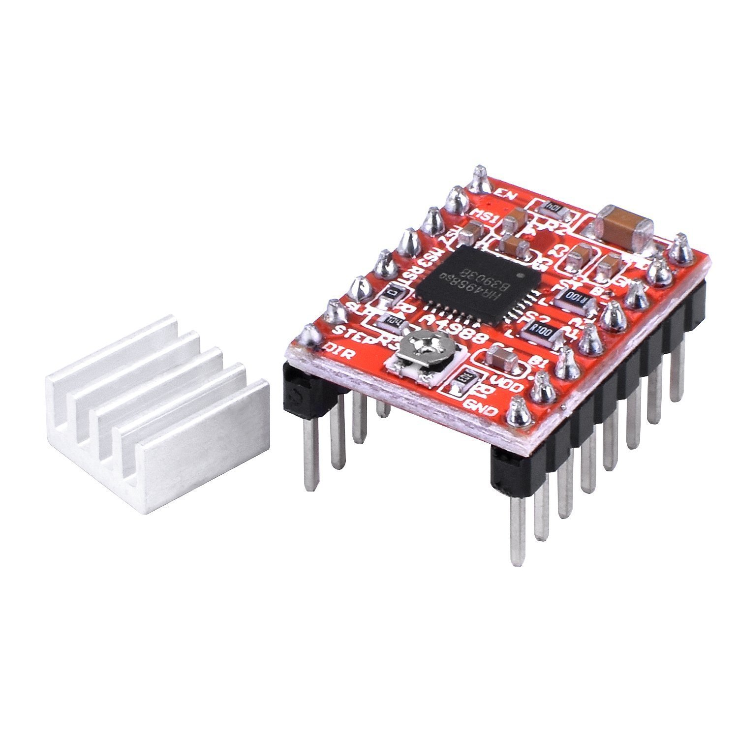 A4988 Stepstick Stepper Motor Driver Module + Heat Sink for 3d Printer Reprap