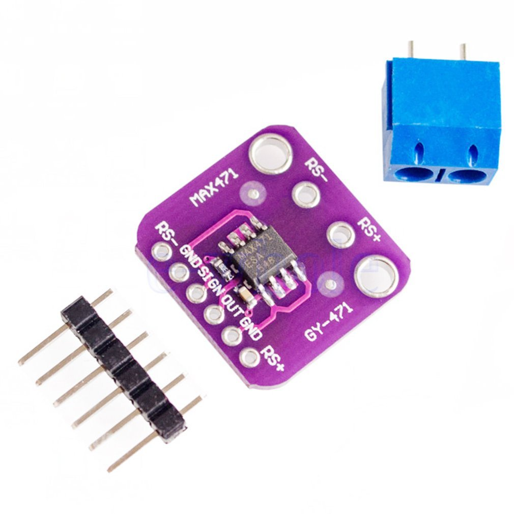 MAX471 3A Current Sensor Module Consume Current Detection Module DC 0-3A