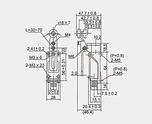 ME-8108 Momentary Limit Switch Roller Lever CNC Mill Laser Plasma