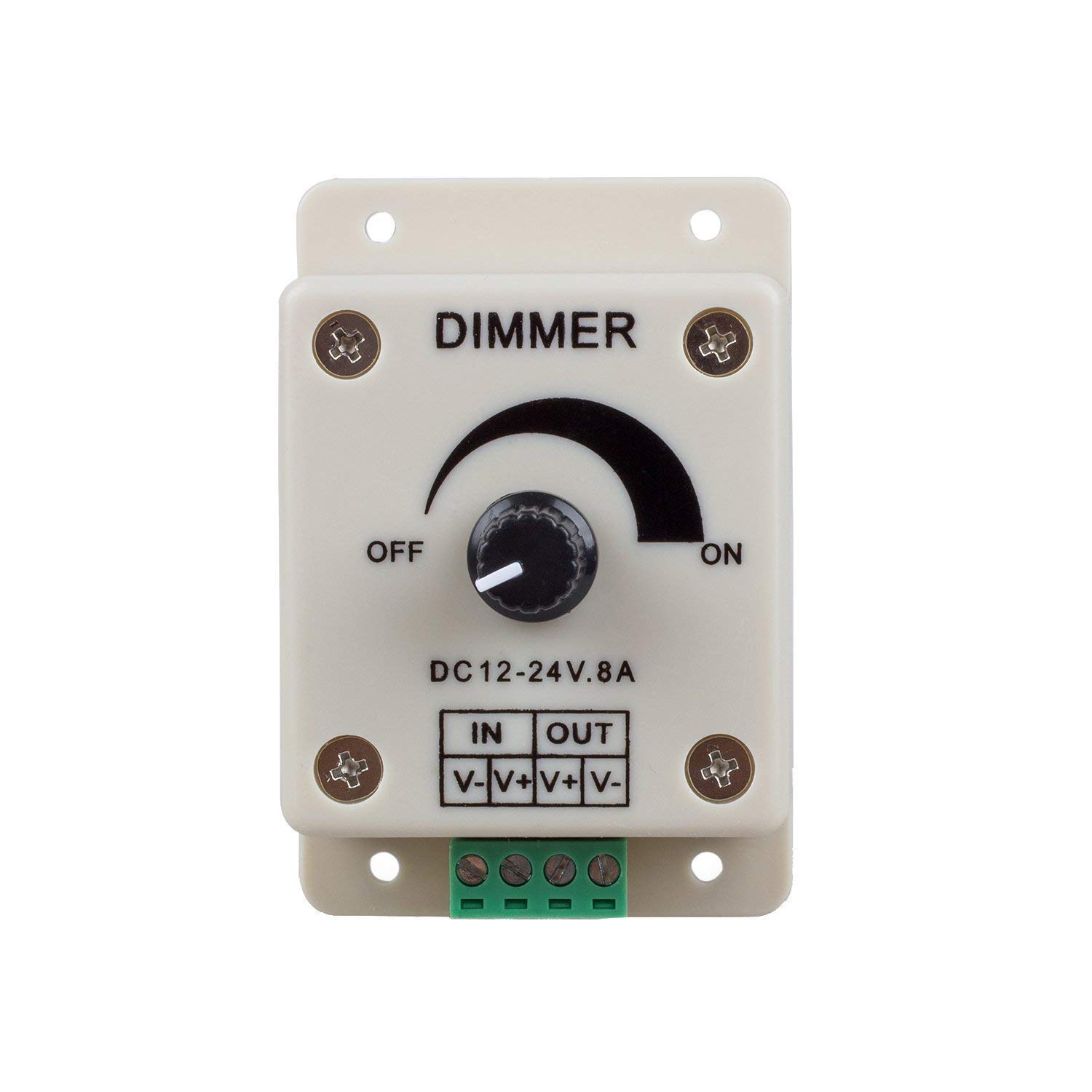 DC 12-24V 8A LED Strip Light Switch LED Stepless Dimmer Switch Brightness Controller