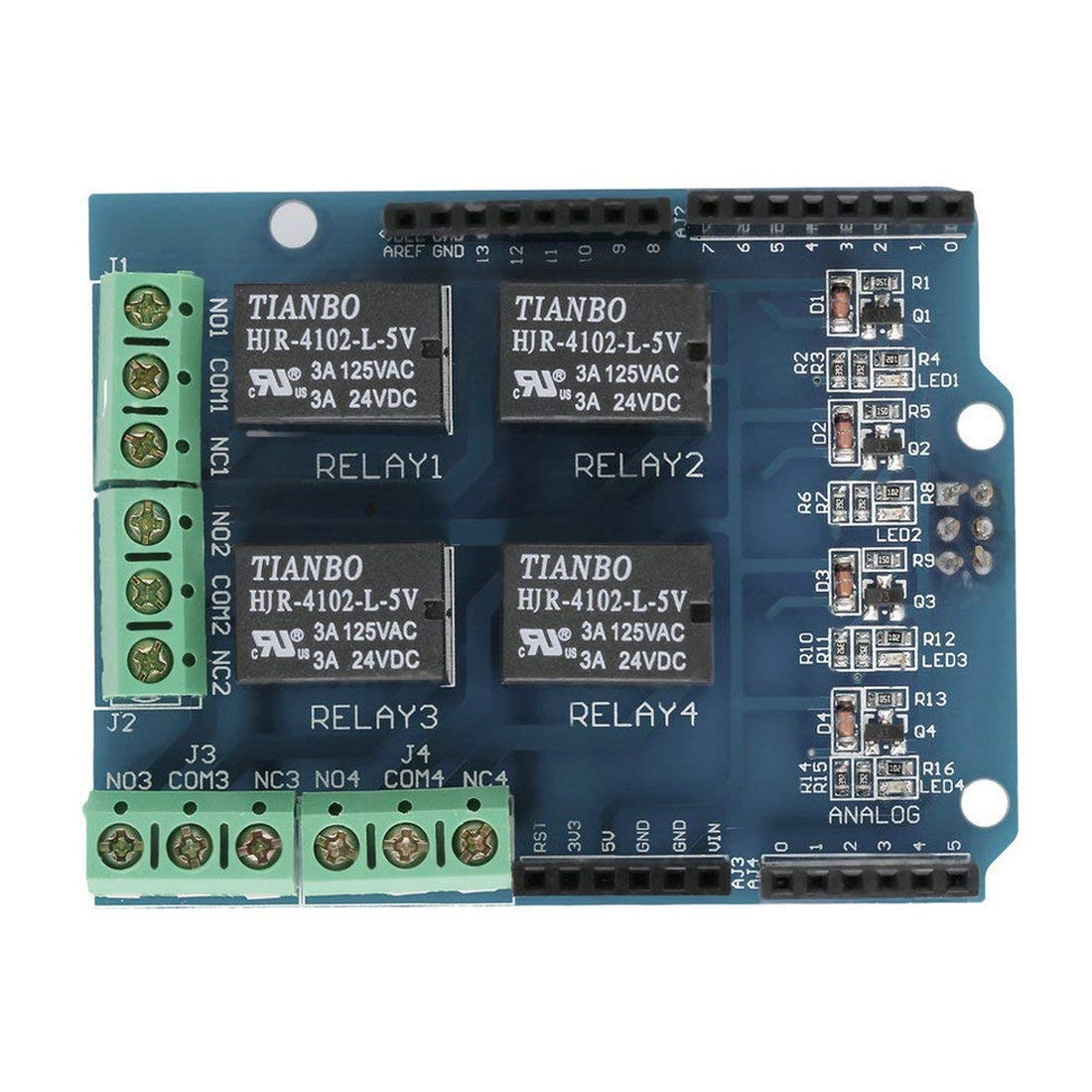 Relay Shield 5V 4 Channel Arduino UNO R3 Relay Shield Arduino Shield