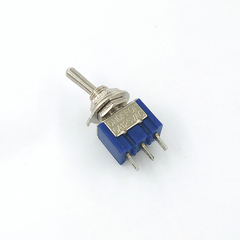6A/125V 3A/250V ON/OFF/ON 3 Terminals 3 Position Toggle Switch Single Joint MTS-103