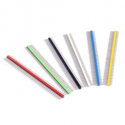 18PCS 2.54mm Single Row Male Header And 18PCS Female Header Connector Kit PCB Pin Strip for Arduino