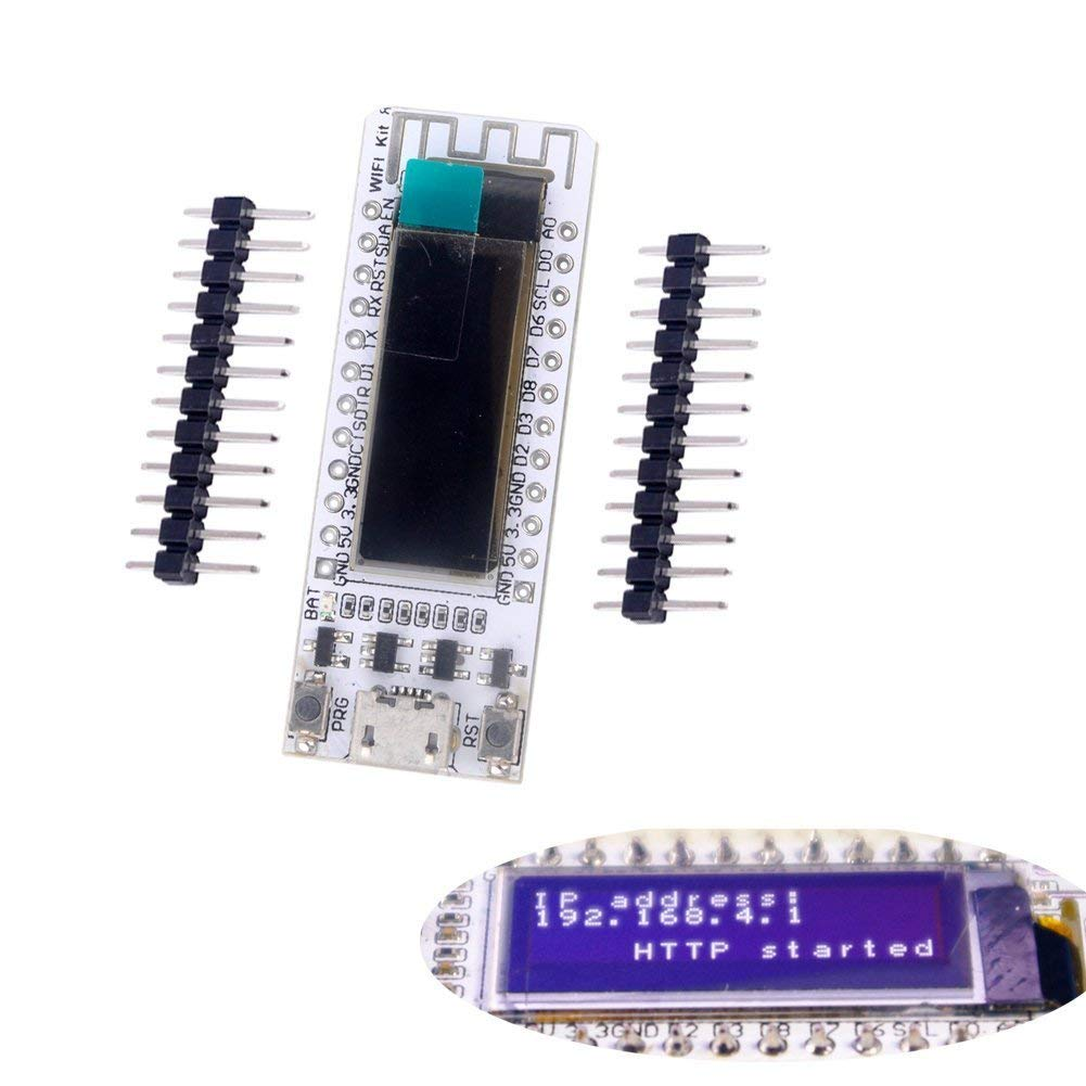 0.91 Inch ESP8266 OLED Display Dev Board WIFI Kit 8 CP2102 IOT Support Arduino IDE NodeMCU LUA
