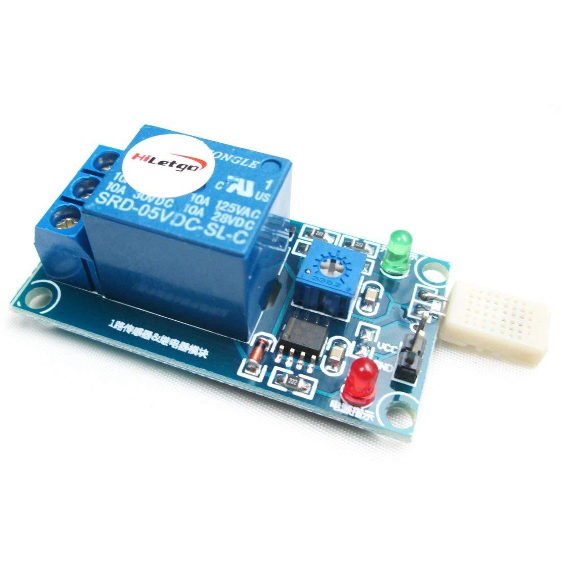 HR202 Humidity Sensor Switch Relay Module Control Board DC 5V 1-Channal