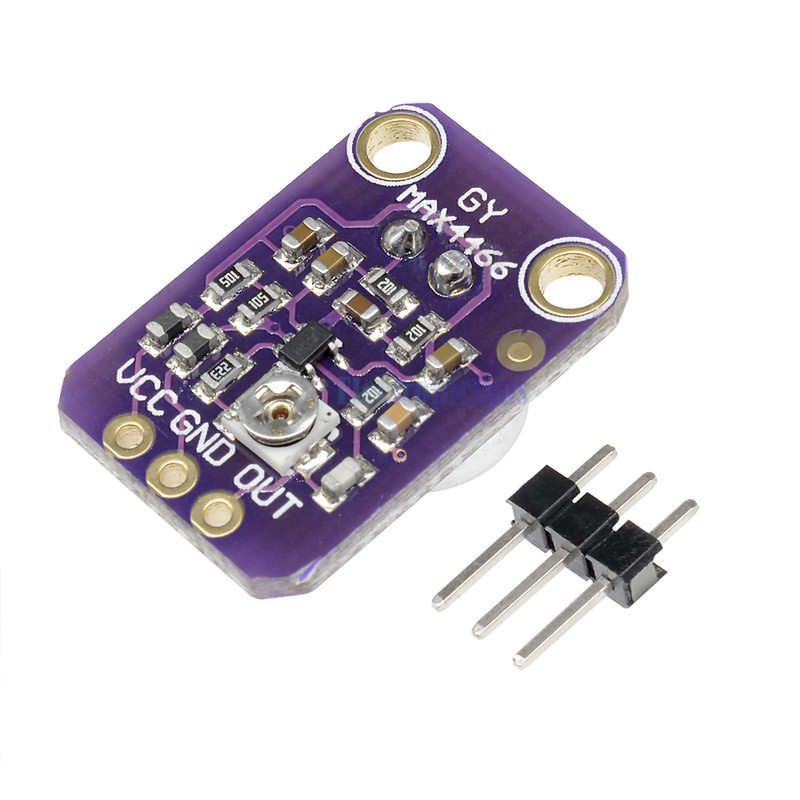 Electret Microphone Amplifier MAX4466 Module Adjustable Gain Blue Breakout Board for Arduino