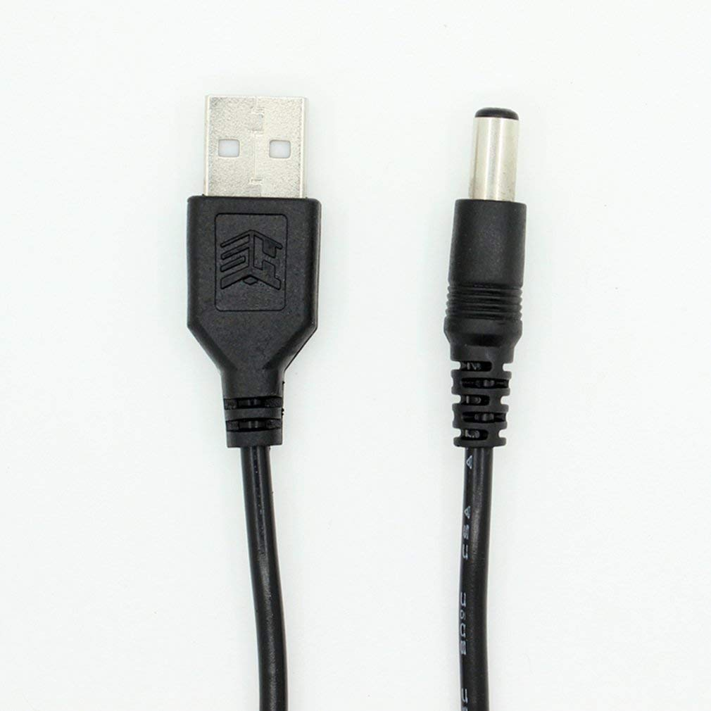 USB 2.0 A Male to DC 5.5x2.1mm 5 Volt DC Connector Charge Barrel Jack Power Cable
