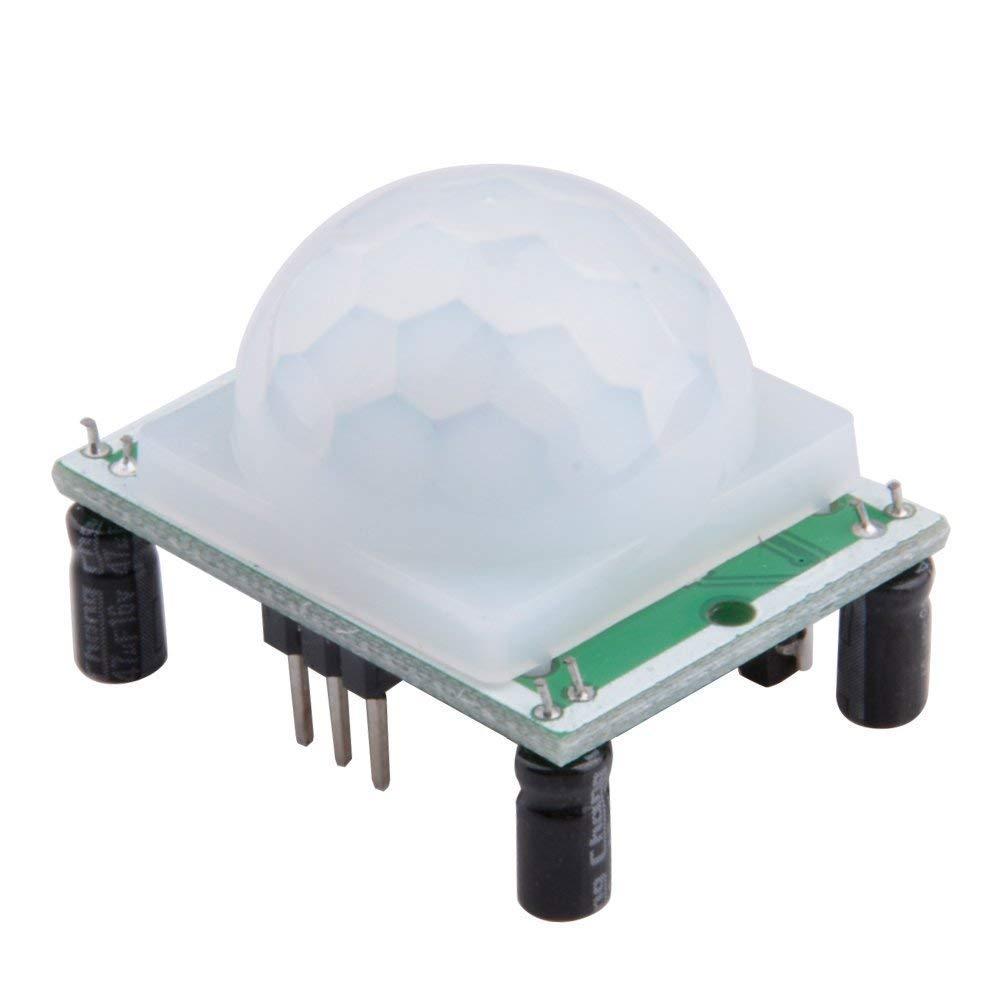 HiLetgo 5pcs HC-SR501 PIR Infrared Sensor Human Body Infrared Motion Module for Arduino Raspberry Pi