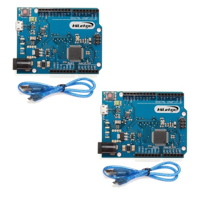 HiLetgo 2pcs Leonardo R3 Pro Micro ATmega32U4 Development Board With USB Cable
