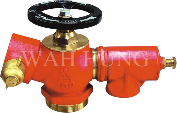 WH007 80mm Copper Alloy Single Outlet Hydrant Valve With Parity Valve