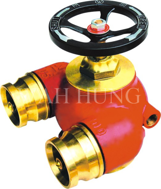WH005 80mm And 100mm Copper Alloy Twin Inlet With Integral Non-Return Valve And Drain