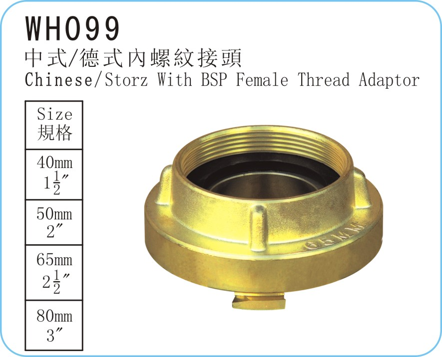 WH099 Chinese/Storz Type With BSP Female Thread Adaptor