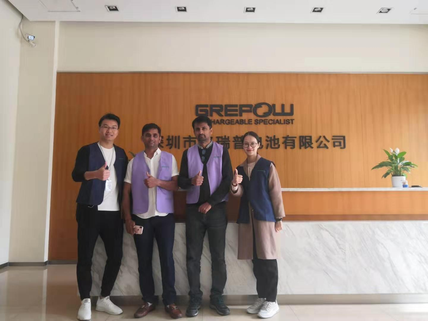 Welcome Indian customers to visit our battery factory, drone assembly factory!