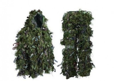 Hybrid Ghillie Suit Woodland Green