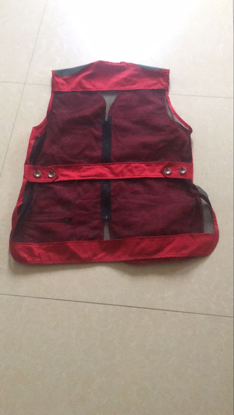 Classy Clays Mesh Shooting Vest -- Red/Black