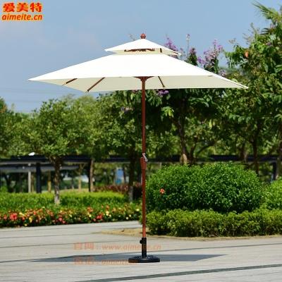 AMT愛美特戶外遮陽傘方形2.1米中柱傘
