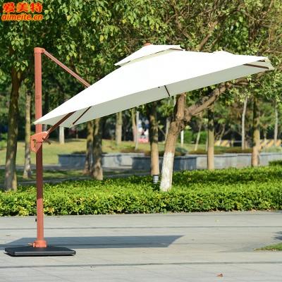 AMT戶外遮陽傘木紋羅馬傘方形3米