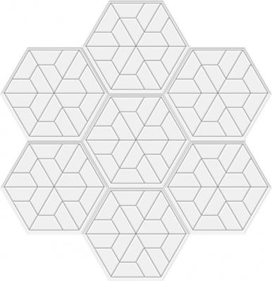 六边形板人字拼花拼图
