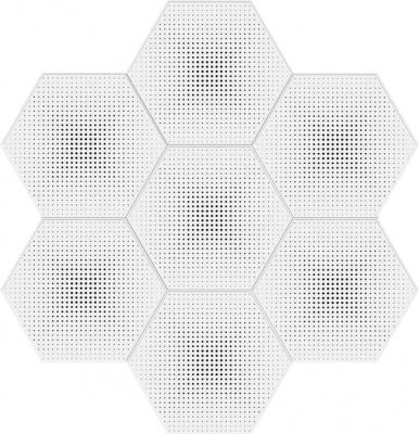 六边形渐变圆孔拼图