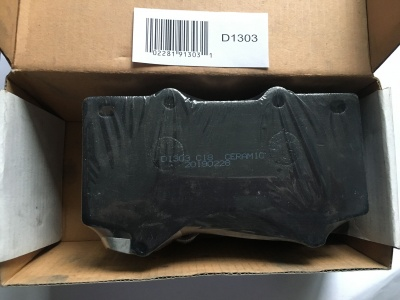 D1303 8419 TOYOTA LAND CRUISER LEXUS FRONT FF CERAMIC DISC BRAKE PAD LONG LIFE
