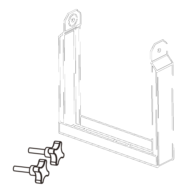 Vertical bracket