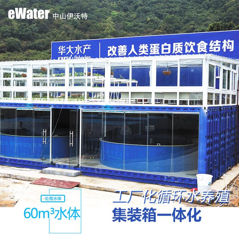 年产6T吨 石斑鱼  封闭式车间集装箱一体化 循环水处理系统