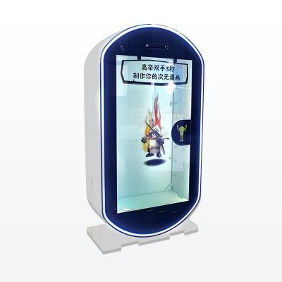 65寸白色互动展示柜