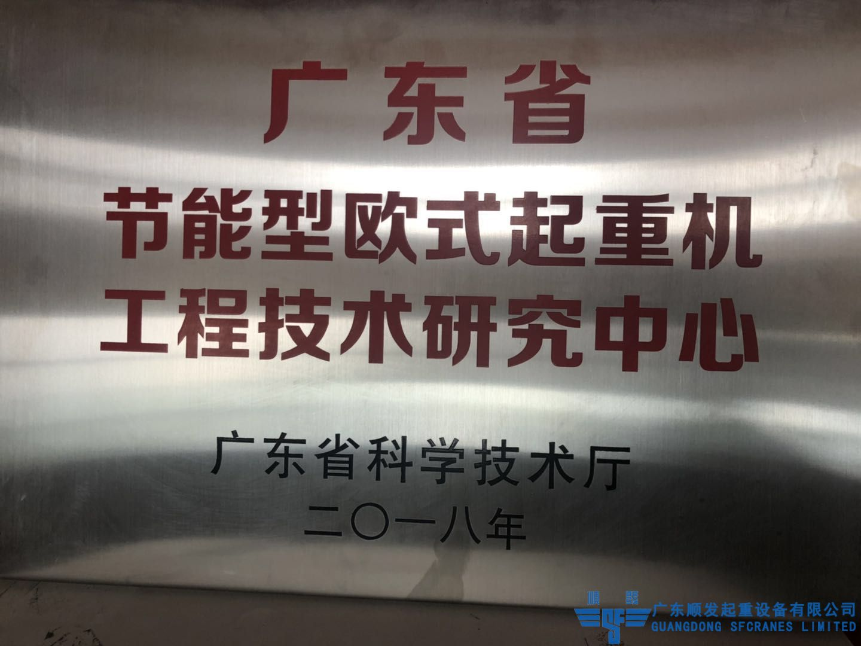 广东省科学厅节能欧式起重机研发中心