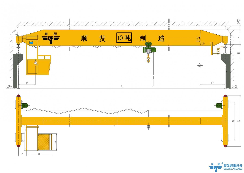 16吨/16t单梁桥式起重机(16吨天车、16吨行吊、16吨行车)