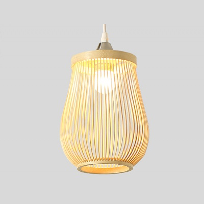 Rattan bamboo lamp shade pendant lamp MD-Z018JR-1