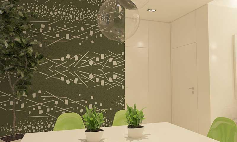 这是贝壳粉弹涂墙面效果图