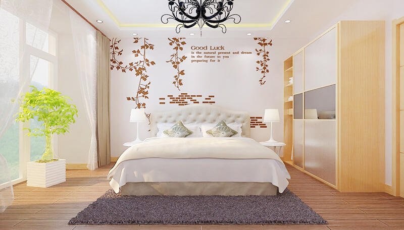 贝壳粉卧室装修效果图