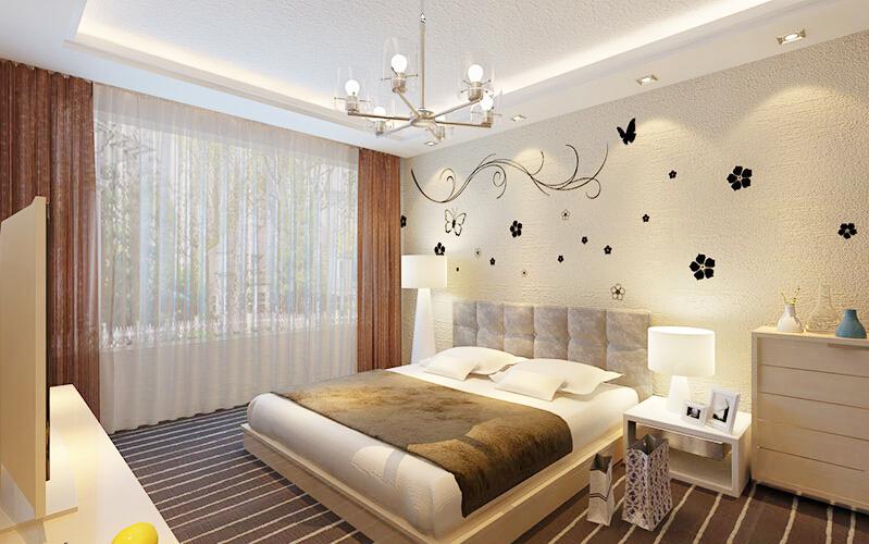 这是贝壳粉卧室装修图