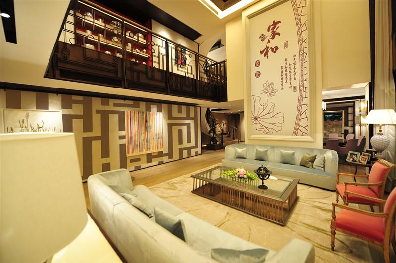 这是贝壳粉的客厅墙面效果图