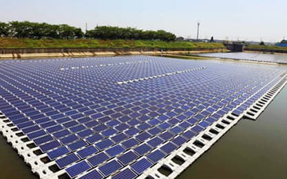 solar power floating plant