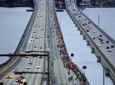 Floating bridge for cars