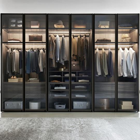 欧蒂隆整体衣柜全屋定制 极简轻奢玻璃门大衣柜衣橱YG02B