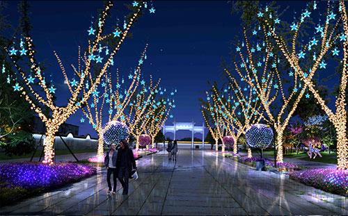 绿化节日照明设计