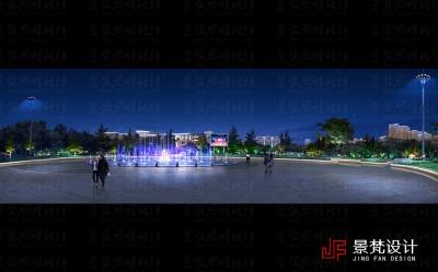 公园夜景亮化设计案例