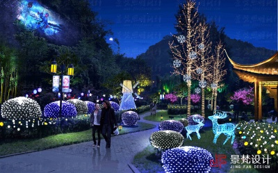 公园绿化景观节日照明设计